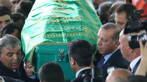 Abdullah Gül'ün babasının cenazesinden görüntüler