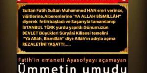 """""""Fatih'in Emaneti Ayasofya'yı açamayan ümmetin umudu kilise açmaya devam ediyor"""""""